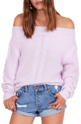 Amuse Society Miraflores Off the Shoulder Sweater