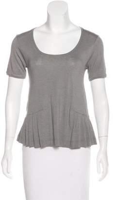 IRO Wool-Blend Short Sleeve Top