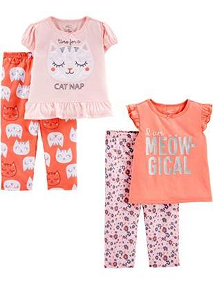 Carter's Simple Joys by Girls' Toddler 4-Piece Fleece Pajama Set