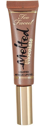 Too Faced 0.4Oz Chocolate Diamonds Melted Chocolate Liquified Metallic Lipstick