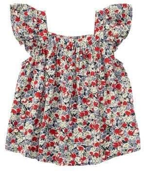 Ralph Lauren Toddler's & Little Girl's Flutter-Sleeve Floral Top