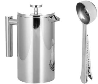 WINOMO Stainless Steel French Press Coffee Tea Maker Double Wall Filter Baskets Cafetiere Coffee Pot (800ml)