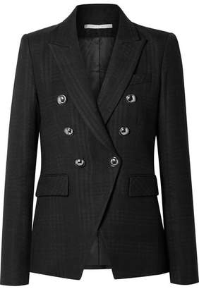Veronica Beard Miller Checked Twill Blazer - Black
