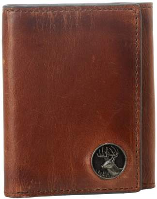 Weber's Leathers Men's Trifold with Buck Concho