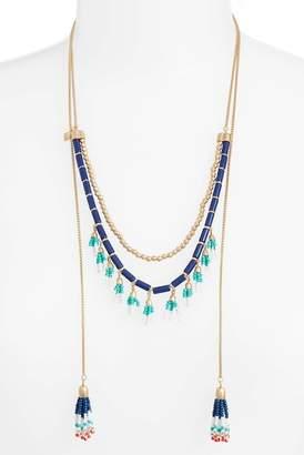 Rebecca Minkoff Beaded Lariat Necklace
