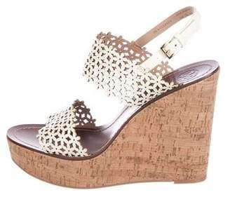 Tory Burch Laser Cut Wedge Sandals