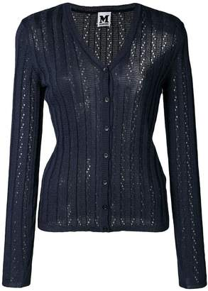 M Missoni sheer constructed cardigan
