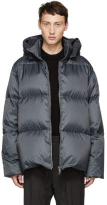 Jil Sander Grey Quilted Down Riversdale Jacket