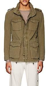 Herno MEN'S HOODED COTTON-BLEND MILITARY JACKET - OLIVE SIZE XXL
