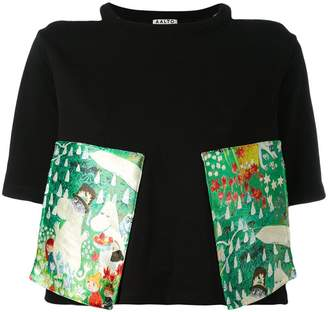 Aalto cut-out shoulders cropped T-shirt