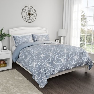 Comforter Set with Exclusive Stargaze Design- 3 Piece King Bed Set by Somerset Home (Blue)