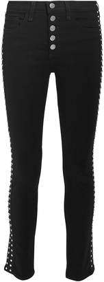 Veronica Beard Debbie Rhinestone Skinny Jeans
