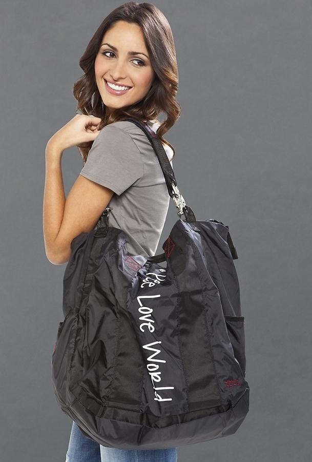 Peace Love World The Weekender Bag in Black