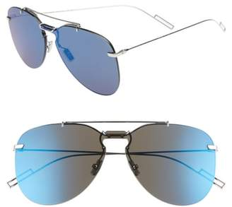 Christian Dior 69mm Mirrored Aviator Sunglasses