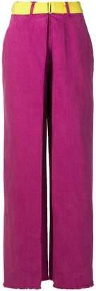 Aalto belted wide leg jeans