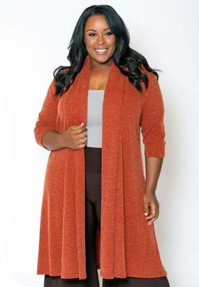 Parker Sealed With A Kiss Sealed w/ A Kiss Knit Long Cardigan Sweater in Knitlongparkercardigan Rust Size 6X