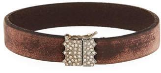 Armenta New World Diamond & Leather Bracelet