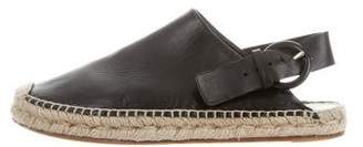 Celine Leather Slingback Espadrilles