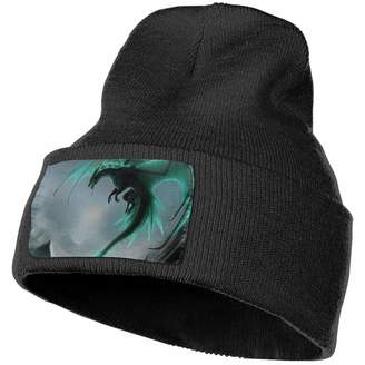 b210211affde2 Dragon Optical Crazy Popo Cool Cuffed Plain Skull Knit Hat Cap - Warm