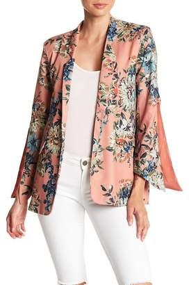 Aiden Floral Print Split Sleeve Blazer