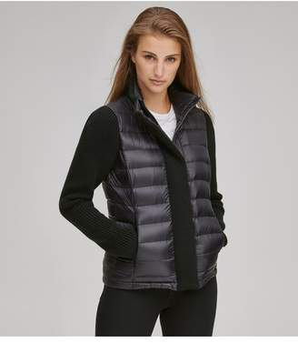 Andrew Marc Pearl Puffer With Sweater Sleeves