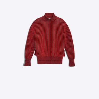 Balenciaga Wool oversize crewneck with double hem effect