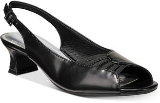 Easy Street Shoes Bliss Slingback Peep-Toe Pumps Women's Shoes