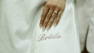 The Modesty Company London Personalised Gift For Brides Bath Robe Towel Wrap