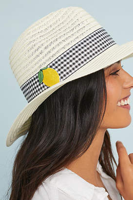 Anthropologie Lemon Gingham Rancher
