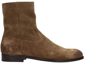 Buttero Brown Suede Ankle Boots