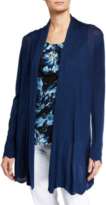 Joan Vass Novelty Scalloped Cardigan