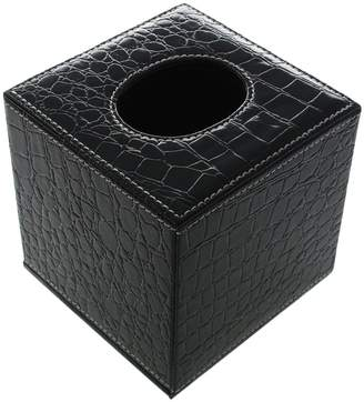 JustNile Decorative Gator Toilet Tissue Box; Faux Leather SquareHolder Made for Vanity Countertops and Home Décor; Vintage Pattern, Design & Quality with Magnetic Bottom