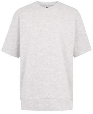 Topman Mens Frost Grey Short Sleeve Sweatshirt