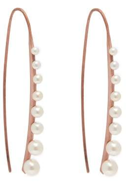 Sophia Kokosalaki Meteorfall Pearl & Rose Gold Earrings - Womens - Pearl
