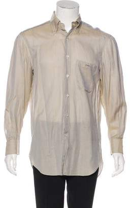 Kiton Woven Button-Up Shirt