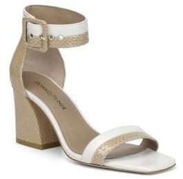 Donald J Pliner Watson Leather Ankle-Strap Sandals