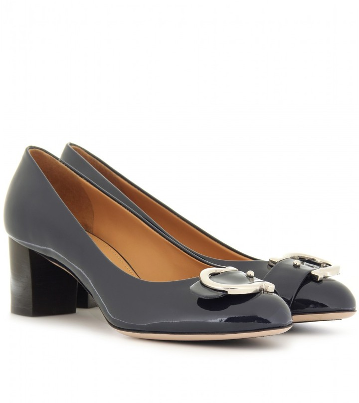 Salvatore Ferragamo CASSIA PATENT LEATHER PUMPS