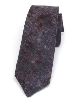 Kathrine Zeren Speckled Dark Purple Skinny Tie