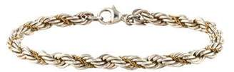 Tiffany & Co. Two-Tone Rope Chain Bracelet