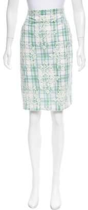 No.21 No. 21 Plaid Lace Skirt