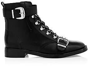 Schutz Women's Magda Leather Combat Boots