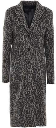 RtA Leopard-print Wool-blend Felt Coat