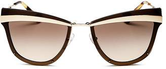 Prada Oversized Cat Eye Sunglasses, 61mm