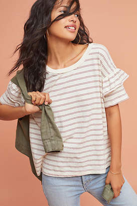 Current/Elliott Ruffled & Striped Tee $138 thestylecure.com