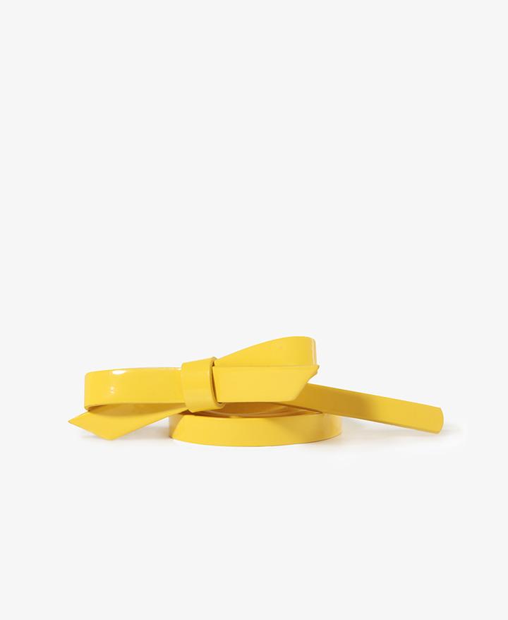 Forever 21 Patent Bow Waist Belt