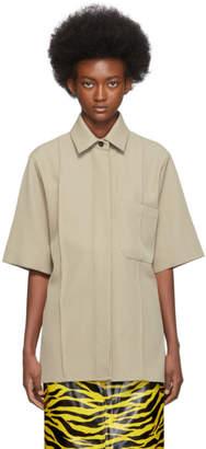 Kwaidan Editions Beige Twill Oversize Shirt