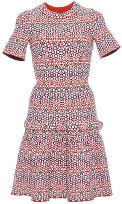 Alaia Sleeved Multi-Colored Dress