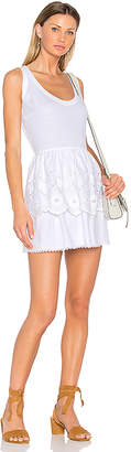 Red Valentino Fit & Flare Mini Dress in White $717 thestylecure.com