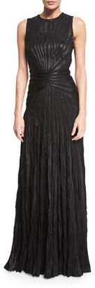 Ralph Lauren Collection Larisa Sleeveless Plisse Evening Gown, Black $5,990 thestylecure.com