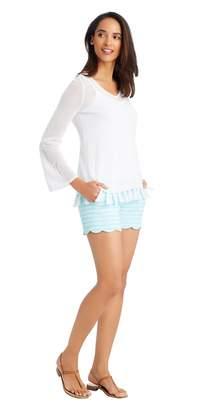 J.Mclaughlin Petal Scallop Shorts in Stripe